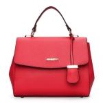 [ พร้อมส่ง Hi-End ] - กระเป๋าถือ/สะพาย ใบกลางๆ สีแดงโดดเด่น ดีไซน์สวยเรียบหรู ดูดี งานหนัง saffiano คุณภาพดีคุ้มค่า