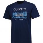 เสื้อทีเชิ้ตแมนเชสเตอร์ ซิตี้ 2018 Premier League Winners Our City สีน้ำเงินของแท้