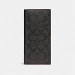 กระเป๋าสตางค์ผู้ชาย COACH BREAST POCKET WALLET F25518 : BLACK/OXBLOOD