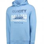 เสื้อฮู้ดแมนเชสเตอร์ ซิตี้ Premier League Winners Our City Hoodie สีฟ้าของแท้