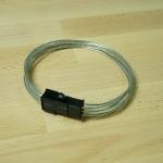 สายไฟเพิ่มความยาว 6 Pin VGA ขนาด 18AWG สายใส