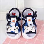 รองเท้ารัดส้น เปิดหน้าระบายอากาศ ลายหมีสีน้ำเงิน Size 17-22