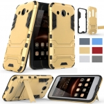 Hybrid Shockproof Armor Rubber Stand Case For Huawei Y3 2017