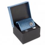 ชุดเนคไทคัฟลิ่งแมนเชสเตอร์ ซิตี้ Manchester City Tie & Cufflink Set ของแท้