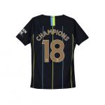 เสื้อไนกี้แมนเชสเตอร์ ซิตี้ 2018 2019 ทีมเยือน Champions 18 สำหรับเด็กโตของแท้