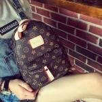 [ พร้อมส่ง ] - กระเป๋าเป้แฟชั่น สไตล์ยุโรป สีกาแฟลายดอก ใบเล็กกระทัดรัด ดีไซน์สวยเก๋ไม่ซ้ำใคร เหมาะกับสาว ๆ ที่กำลังมองหากระเป๋าเป้ใบจิ๋ว