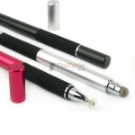 2 in 1 ปากกาทัชสกรีน หัวไฟเบอร์ + หัวจานปรับองศา