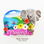 Magnet แม่เหล็กติดตู้เย็น วัสดุเรซิ่น ลายไทย ลวดลายสถานที่ท่องเที่ยวไทย ปั้มลายเนื้อนูน ลงสีสวยงาม สินค้าพร้อมส่ง