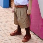 ( พรีเมี่ยม ตราเขลางค์เมืองเด็ก ) กางเกงนักเรียนผ้าโทเรสีน้ำตาล