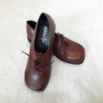 Sainte รองเท้าหนังสีน้ำตาลลูกเสือครูหญิง Size 39-41