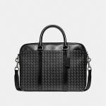กระเป๋าผู้ชาย COACH PERRY SLIM BRIEF WITH HERRINGBONE PRINT F24722
