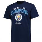 เสื้อทีเชิ้ตแมนเชสเตอร์ ซิตี้ 2018 We Are The Champions สีน้ำเงินของแท้