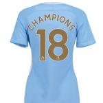 เสื้อแมนเชสเตอร์ ซิตี้ 2017 2018 CHAMPIONS 18 ทีมเหย้า สำหรับผู้หญิง