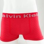 กางเกงในชาย Calvin Klein Boxer Briefs : สีแดง ลายทาง (FREE SIZE)