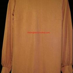 ขายแล้วค่ะ T5:Vintage top เสื้อวินเทจแขนยาวสีส้ม&#x2764