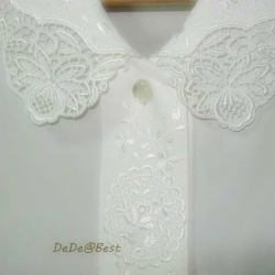 ขายแล้วค่ะ T35:Vintage top เสื้อวินเทจสีขาวปักลายสวยม๊าก...มาก&#x2764