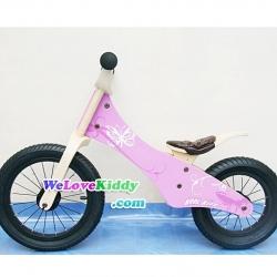 รถจักรยานเด็กเล่นทรงตัว 2 ล้อ รุ่น Speedster-butterfly สีชมพู : แบบไม้ PN002