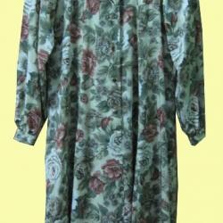 ขายแล้วค่ะ D37:Vintage dress เดรสวินเทจผ้าไหมลายดอกไม้วินเทจ&#x2764