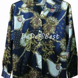 ขายแล้วค่ะ T40:Vintage top เสื้อวินเทจลายสวย&#x2764