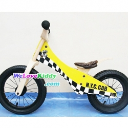 รถจักรยานเด็กเล่นทรงตัว 2 ล้อ รุ่น Speedster-yellowcab สีเหลือง : แบบไม้ PN005