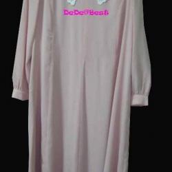 ขายแล้วค่ะ D32:Vintage dress เดรสวินเทจสีชมพูลายจุดขาว ปกลูกไม้สวยหวาน&#x2764
