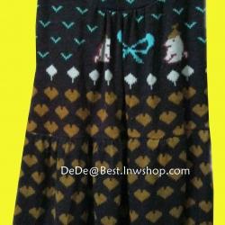 ขายแล้วค่ะ D13:2nd hand dress เดรสสั้นสีน้ำตาล แขนกุด ผ้าเนื้อนิ่ม ลายน่ารักค่ะ&#x2764