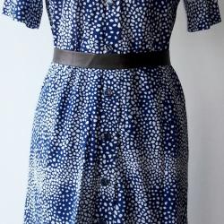 D6:Vintage dress เดรสวินเทจ ลายกราฟฟิคแบบย้อนยุค