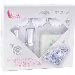 เรียวครีม ไดมอนเซ็ต Diamond Set 7 กรัม ครีมหน้าขาว บำรุงผิวให้ขาวเรียบเนียนหน้าใสกระจ่าง รอยด่างดำ ความหมองคล้ำจางลง เริ่มสังเกตผลได้ใน 2 สัปดาห์