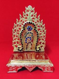 แท่นพระพม่าทรงบัว 6 นิ้ว (กระจก)