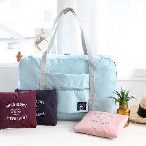 กระเป๋าใส่เสื้อผ้าเดินทาง พับเก็บได้ มี 4 สี