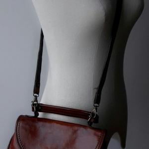 ขายแล้วค่ะ B49:Vintage leather bag กระเป๋าหนังแท้สะพายข้าง/กระเป๋าถือ&#x2764