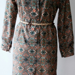 D47:Vintage dress เดรสวินเทจลายกราฟิคโบราณ