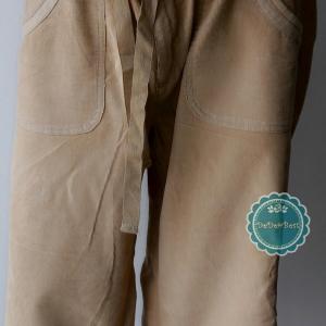 P1:2nd hand pants กางเกงขาสั้นผ้าลูกฟูกเนื้อดีสีครีม