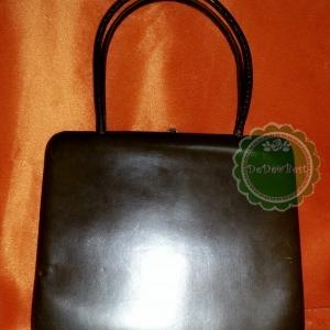 B39:Vintage leather bag กระเป๋าถืิอห�