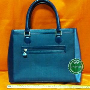 ขายแล้วค่ะ B47:Vintage GENUINE HOURSE HAIR bag กระเป๋าถือสีน้ำเงิน กระเป๋าขนหางม้า&#x2764