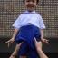 ( มาตราฐาน Muangdek ) กางเกงนักเรียนสีนำ้เงินสด เอวยางยืดซิปหน้า thumbnail 6