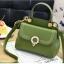 [ พร้อมส่ง ] - กระเป๋าแฟชั่น ถือ/สะพาย สีชาเขียว ขนาดกระทัดรัด ปักหมุดเท่ๆ ทรงตั้งได้ ดีไซน์สวยเก๋ ดูดี งานหนังสวยมากค่ะ thumbnail 5