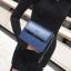 [ พร้อมส่ง ] - กระเป๋าถือ/สะพาย สีน้ำเงินเข้ม วิ้งค์ๆ ขนาดกระทัดรัด ดีไซน์สวยเรียบหรู ดูดี งานหนังสวยค่ะ thumbnail 4