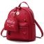 [ พร้อมส่ง ] - กระเป๋าเป้แฟชั่น สีแดง ปักหมุดเก๋ๆ สุดเท่ใบกลางๆ ดีไซน์สวยไม่ซ้ำใคร เหมาะกับสาว ๆ ที่ชอบกระเป๋าเป้ แถมเป๋าลูก thumbnail 1