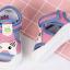 รองเท้ารัดส้น เปิดหน้าระบายอากาศ ลายหมีสีฟ้าอ่อนกุ้นชมพู Size 17-22 thumbnail 2