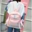 [ พร้อมส่ง ] - กระเป๋าเป้แฟชั่น สีชมพู สุดเท่ ดีไซน์สวยเก๋ไม่ซ้ำใคร สวยสุดมั่น เหมาะกับสาว ๆ ที่ชอบกระเป๋าเป้น้ำหนักเบาๆ thumbnail 7