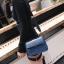 [ พร้อมส่ง ] - กระเป๋าถือ/สะพาย สีน้ำเงินเข้ม วิ้งค์ๆ ขนาดกระทัดรัด ดีไซน์สวยเรียบหรู ดูดี งานหนังสวยค่ะ thumbnail 7