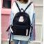[ พร้อมส่ง ] - กระเป๋าเป้แฟชั่น สีดำ สุดเท่ ดีไซน์สวยเก๋ไม่ซ้ำใคร สวยสุดมั่น เหมาะกับสาว ๆ ที่ชอบกระเป๋าเป้น้ำหนักเบาๆ thumbnail 7