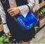[ พร้อมส่ง ] - กระเป๋าคลัทช์ สะพาย สีน้ำเงินโฮโลแกรม ดีไซน์สวยเก๋เท่ๆ รับสงกรานต์ งานสวยโดดเด่น ขนาดกระทัดรัด งานสวยมากๆค่ะ สำเนา thumbnail 6
