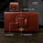 HAPPY กระเป๋าหนังคาดเอว เคส ซอง ไซด์ XXL แนวนอน สำหรับ Samsung Galaxy A7 / E7 thumbnail 6