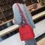 [ พร้อมส่ง Hi-End ] - กระเป๋าเป้แฟชั่น สีแดง ดีไซน์สวยเรียบหรู ดูดีสไตล์แบรนด์ งานหนังคุณภาพดี ช่องเยอะงานสวย thumbnail 4