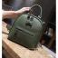 [ พร้อมส่ง Hi-End ] - กระเป๋าเป้แฟชั่น สีเขียวเข้ม ดีไซน์สวยเรียบหรู ดูดีสไตล์แบรนด์ งานหนังคุณภาพดี ช่องเยอะงานสวย thumbnail 8