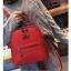[ พร้อมส่ง Hi-End ] - กระเป๋าเป้แฟชั่น สีแดง ดีไซน์สวยเรียบหรู ดูดีสไตล์แบรนด์ งานหนังคุณภาพดี ช่องเยอะงานสวย thumbnail 6