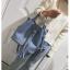 [ พร้อมส่ง ] - กระเป๋าถือ/สะพาย สีฟ้า ทรงขนมจีบตั้งได้ ดีไซน์สวยเรียบหรู ปีกหมุดเท่ๆ ใบกลางๆ งานหนังคุณภาพสวยมากค่ะ thumbnail 5