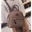 [ พร้อมส่ง Hi-End ] - กระเป๋าเป้แฟชั่น สีกากีเข้ม ดีไซน์สวยเรียบหรู ดูดีสไตล์แบรนด์ งานหนังคุณภาพดี ช่องเยอะงานสวย thumbnail 4